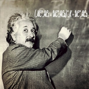 Эйнштейн у доски